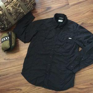 Columbia Omni-Shade Sun Protection Black L/S Shirt